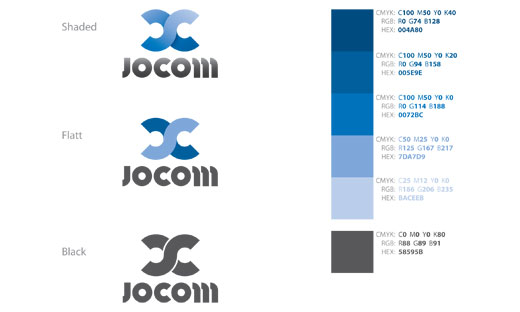 Jocom logo colors